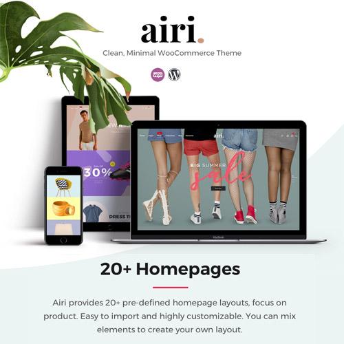 Airi Clean Minimal WooCommerce Theme