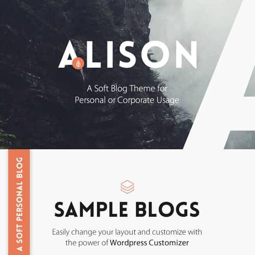 Anne Alison Soft Personal Blog Theme