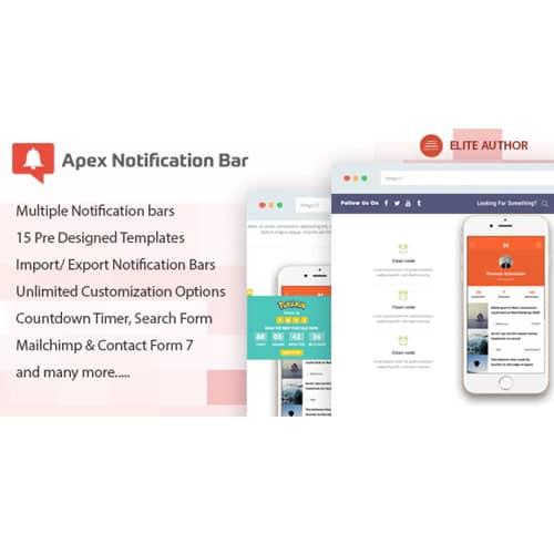 Apex Notification Bar Responsive Notification Bar Plugin for WordPress