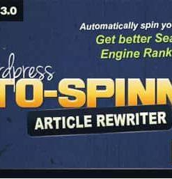 Auto Spinner Tool Plugin Articles Rewriter
