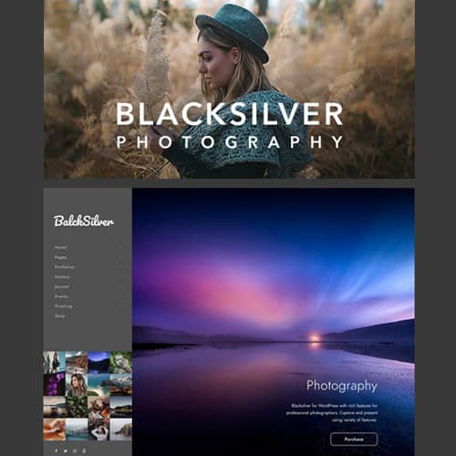Blacksilver Photography Theme for WordPress