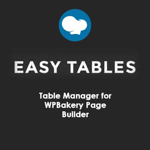 Easy Tables Table Manager for WPBakery Page Builder