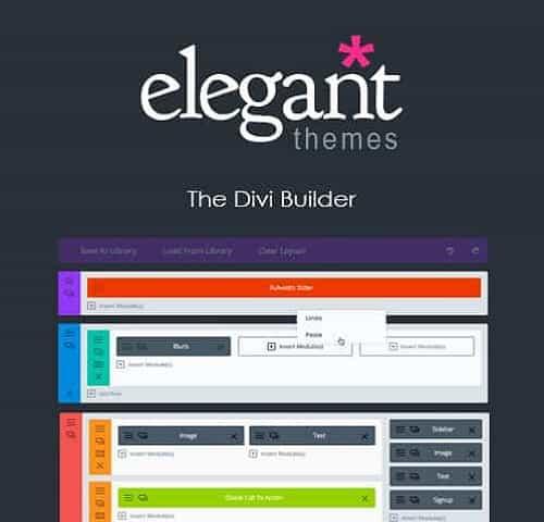 Elegant Themes The Divi Builder Divi Plugin