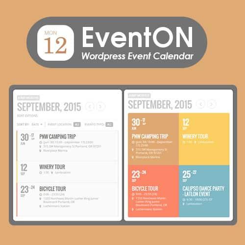 EventOn WordPress Event Calendar Plugin