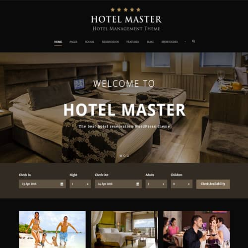 Hotel WordPress Theme For Hotel Booking Hotel Master