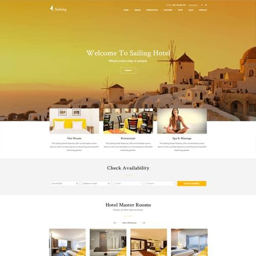 Hotel WordPress Theme Sailing