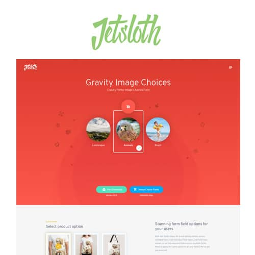 Jetsloth Gravity Forms Image Choices
