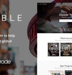 LISTABLE A Friendly Directory WordPress Theme