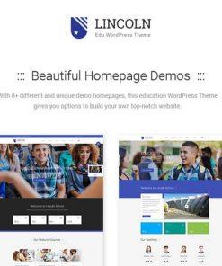 Lincoln Education Material Design WordPress Theme