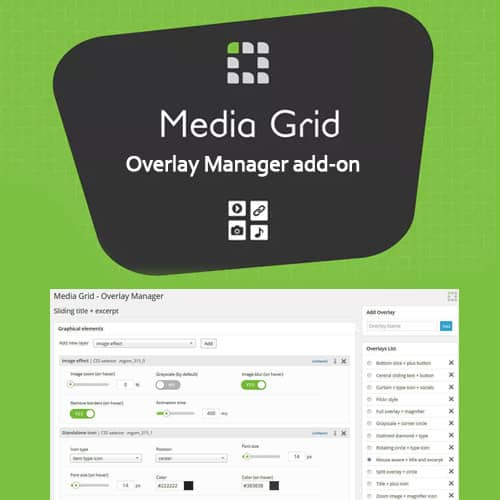 Media Grid Overlay Manager Add-on