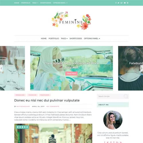 MyThemeShop Feminine WordPress Theme