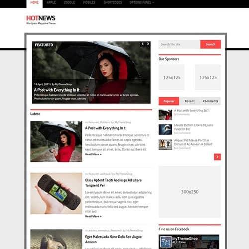 MyThemeShop Hotnews WordPress Theme