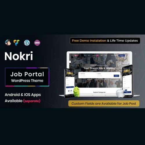 Nokri Job Board WordPress Theme