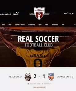 Real Soccer Sport Clubs Responsive WP Theme