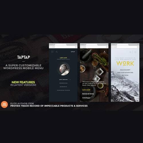 TapTap A Super Customizable WordPress Mobile Menu