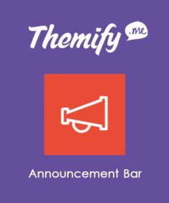 Themify Announcement Bar