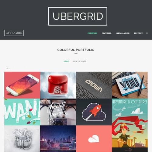 UberGrid responsive grid builder for WordPress