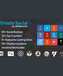 Ultimate Social Easy Social Share Buttons and Fan Counters for WordPress